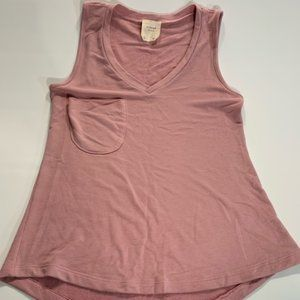 HARPER | Rose Pink Soft Tank Top Pocket Small